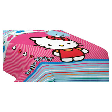 Franco Manufacturing - Hello Kitty Twin-Full Bed Comforter Colorful Hearts Blanket - FEATURES:
