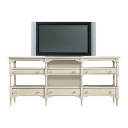 Stanley Furniture - Coastal Living Cottage-Reunion Console - This is style worth coming home to. Corner molding, keyhole drawers and varied-height shelves give this brand-new piece a history all its own.