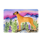 Caroline's Treasures - Rhodesian Ridgeback Kitchen or Bath Mat 20 x 30 - Kitchen or Bath Comfort Floor Mat This mat is 20 inch by 30 inch. Comfort Mat / Carpet / Rug that is Made and Printed in the USA. A foam cushion is attached to the bottom of the mat for comfort when standing. The mat has been permanently dyed for moderate traffic. Durable and fade resistant. The back of the mat is rubber backed to keep the mat from slipping on a smooth floor. Use pressure and water from garden hose or power washer to clean the mat. Vacuuming only with the hard wood floor setting, as to not pull up the knap of the felt. Avoid soap or cleaner that produces suds when cleaning. It will be difficult to get the suds out of the mat.