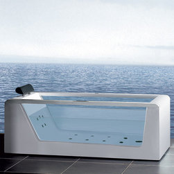 """Atlas International - Ariel Platinum AM152 59"""" Whirlpool Bathtub - Take a dip in this elegant whirlpool bathtub. Equipped with hydro-massage jets designed to target your pressure points for a relaxing experience."""