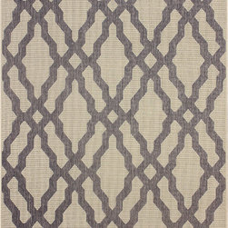 Nuloom - nuLOOM Modern Indoor/ Outdoor Lattice Trellis Grey Rug (7'10 x 10'10) - This moroccan trellis indoor outdoor area rug is made of polypropylene that is easy to clean as well as it is stain and mildew-resistant. This outdoor and indoor rug promises durability and beautiful versatile colors that will certainly match your decor.