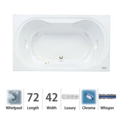 """Jacuzzi - Jacuzzi REA7242 WCR 4CW W White Real 72"""" x 42"""" Real Drop In Luxury - Real Collection:The Jacuzzi  Real collection of luxury tubs delivers magnificence in a beautiful and functional way. With its engaging hourglass shape, this drop-in luxury tub is as much a design statement as it is a way for you to wash the dayÂ's troubles away. The Jacuzzi  Real luxury bath comes in your choice of four colors (white, black, almond, and oyster) and features the comfort of integrated dual-armrests. And with beautiful and integrated lighting, the Jacuzzi  Real luxury tub is a must-have in any bathroom.Integrated Dual-Armrests - Convenient armrests are sculpted into the bathing wellMeasurements:72""""L x 42""""W x 26""""HLuxury Whirlpool:At its most basic form, the three things needed to create a whirlpool experience are water (moved through a pump), air (mixed with the water), and jets (Therapro and AccuPro). Jacuzzi s  Comfort Whirlpool models do just this. A single speed motor and patented fixed airflow system push mixed water through 5-8 jets. Luxury models take things even further by swapping out the single-speed motor for a multi-speed motor and upgrading the airflow systems to electronically operated and patented Silent Air  Induction technologies. Luxury Models tend to have double (in some cases, triple) the jets of Comfort models, enhanced user controls, and a number of optional high-tech upgrades including Whisper technology, Illumatherapy lighting, and LCD user controls. When Shopping Jacuzzi  Whirlpools it is important to understand what you are looking for. For some, it is a basic model that offers invigorating bathes at an excellent price-point. For others, it is a statement-making bathroom centerpiece. Whichever it may be, we have got you covered with Jacuzzi s  full line of industry-leading Whirlpool tubs. Listed below are the details for the Jacuzzi  Luxury Whirlpool."""