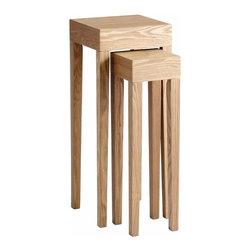 Ash Veneer Tall Square Nesting Tables Set of 2 - *Taavi Tables