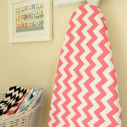 Ironing Board Cover Hot-Pink and White by City Chic Country Mouse - Put this cute zigzag cover on your ironing board and you may even find yourself smiling while you get your chores done! Check out the shop for more household goodies in colorful prints, from oven mitts to aprons.