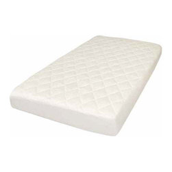Natura - Crib Mattress pad - Quilted Topper. 100% Cotton cover - Classic Mattress Pad