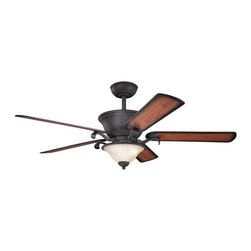 "Kichler Lighting - Kichler Lighting 300010DBK High Country Black 56"" Ceiling Fan - Lamp Included; Fan Control: Full Function 3-Speed CoolTouch; Weight: 34.10lbs"