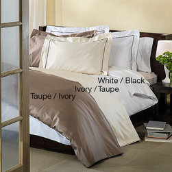 None - Egyptian Cotton 800 Thread Count Embroidered 3-piece Duvet Cover Set - A silky soft 800 thread count Egyptian cotton construction makes this duvet cover a comfortable and luxurious addition to your bedroom decor. Crafted with a button closure,this easy-to-install cover is machine washable for easy clean up.