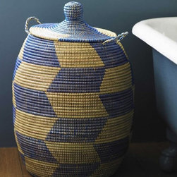 Woven West African Hamper - I can't get enough of these African baskets. I love this large version. It's great as a hamper but also pretty perfect to store toys and this and that (indoors or out).