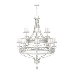 Black + White Story Chandelier, 807240-6ST