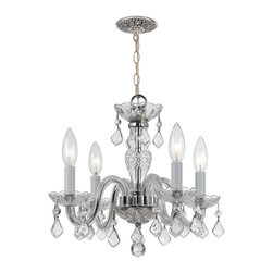 Crystorama - Traditional Crystal Chandelier - All the drama of a genuine crystal chandelier — modernized with gleaming chrome. Make this hand-cut masterpiece the ceiling star of your favorite formal setting.