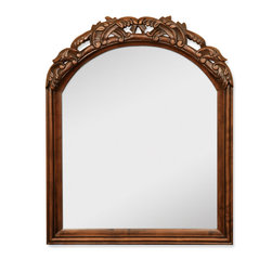 Hardware Resources - Lyn Design MIR009 Wood Mirror - What's that devilishly good looking piece of art on the wall? Oh, that's not a frame, it's a mirror. And that's not art, that's your face. Admire yourself longingly with this tasteful hall mirror.