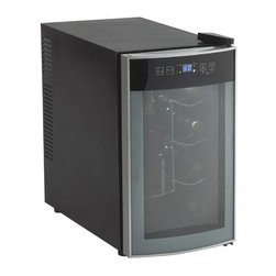 Avanti - Wine Cooler 18 Bottle - 18-bottle Dual-Zone Thermoelectric Wine Cooler with glass door and integrated soft-touch digital display.