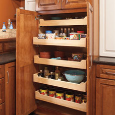 Masterpiece® - Tall Utility Cabinet with Roll-Out Trays - Features & Accessorie