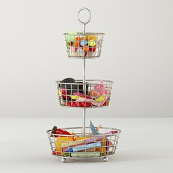 Three-Tier Flea Market Bin - This will help you tame the knickknacks and crayons.