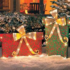 Gift Box Outdoor Christmas Decoration - Improvements Catalog