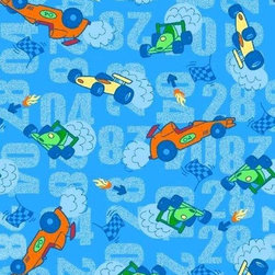 """SheetWorld - SheetWorld Round Crib Sheets - Race Cars Blue - Made in USA - This luxurious 100% cotton """"woven"""" round crib sheet features the cutest race cars print on a blue background. Our sheets are made of the highest quality fabric that's measured at a 280 tc. That means these sheets are soft and durable. Sheets are made with deep pockets and are elasticized around the entire edge which prevents it from slipping off the mattress, thereby keeping your baby safe. These sheets are so durable that they will last all through your baby's growing years. We're called sheetworld because we produce the highest grade sheets on the market today."""