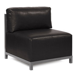Howard Elliott - Howard Elliott Avanti Black Axis Chair Slipcover - Axis chair Avanti black slipcover