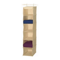 Richards Homewares - Sweater Accessory, 6-Shelf - Gain extra storage with this 6 sweater shelves that only takes 10 of space on the closet rod. Perfect for storing and Stores accessories and protecting clothing. Made of natural canvas and is easy to assemble.