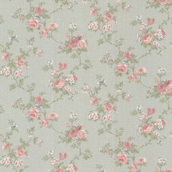 Mirage - Mirage Jubilee Princess Wallpaper - Perfect for a girl's room or a room of one's own, this lovely French floral wallpaper features delicate in pink and green tones. Use it to create an ultra-feminine look in your girliest room. Each wallpaper bolt is 20.5 inches wide and 33 feet long, covering about 56 square feet of your room.