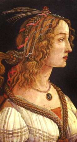 """overstockArt.com - Botticelli - Portrait of a young woman - 24"""" X 36"""" Oil Painting On Canvas Portrait of a young woman is a beautiful painting by Sandro Botticelli. This renaissance masterpiece has been recreated detail by detail, color by color to near perfection. It will shure bring grace to every room. Alessandro di Mariano di Vanni Filipepi, better known as Sandro Botticelli (c. 1445- 1510), was an Italian painter of the Early Renaissance. He belonged to the Florentine School under the patronage of Lorenzo de' Medici, a movement that Giorgio Vasari would characterize less than a hundred years later as a """"golden age"""". Botticelli's posthumous reputation suffered until the late 19th century, since then his work has been seen to represent the linear grace of Early Renaissance painting. Among his best known works are The Birth of Venus and Primavera ."""