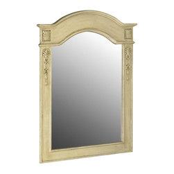 Belle Foret - Belle Foret Single Mirror, Antique Parchment (80063) - Belle Foret 80063 Single Mirror, Antique Parchment