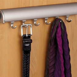 Hafele - Synergy Elite Fixed Accessory Rack in Matte N - Six hooks. Warranty: One year. Made from aluminum and zinc. Made in Canada. 15.25 in. W