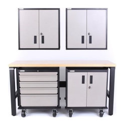 Geneva 5 Piece Set with 5 Drawer Base Cabinet - Now you can efficiently and effectively work in ...
