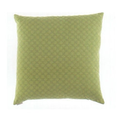 "Canaan - 24"" x 24"" Full Circle Green Fabric Throw Pillow - 24"" x 24"" Full circle green fabric throw pillow with a feather/down insert and zippered removable cover. These pillows feature a zippered removable 24"" x 24"" cover with a feather/down insert. Measures 24"" x 24"". These are custom made in the U.S.A and take 4-6 weeks lead time for production."
