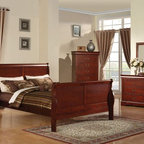 Acme Furniture - Louis Philippe III KD Cherry Queen Bed - 19520AQ-SP - Louis Philippe III collection Queen Bed