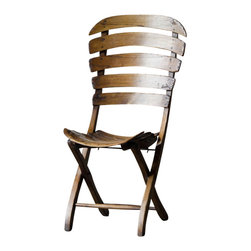 Marco Polo Imports - Nahal Smile Chair - Exotic wooden paneled, folding chair with an uplifting design. Sure to make an irreplaceable addition to any room.
