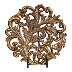 Sterling Industries - Sterling Industries Acanthus Charger X-7450-78 - From the Acanthus Collection, this Sterling Industries decorative charger is a beautiful addition to mantles, foyer tables and more. The design incorporates an array of traditional curls and classic acanthus leaves, all highlighted by an elegant bronze-toned finish.