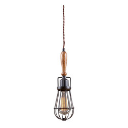 Reclamations - Mechanica Industrial-Inspired Pendant Light - The Mechanica pendant light is inspired by 1930's trouble finder lights from automotive repair shops of the same era.