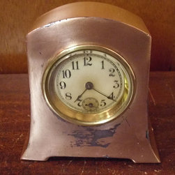 Vintage/Antique Copper Mantle Clock by 4 The Love Of Vintage - This gorgeous vintage copper clock is for the bedside table.