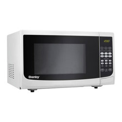 "Danby - .7 cu. ft., 700 watts Microwave, White - Danby�s counter top microwaves are not only practical and economical, they�re stylish too!  Danby microwaves are well suited for the dorm room, office, cottage or kitchen. 0.7 cu. ft. capacity microwave, 700 watts of cooking power, 10 power levels, Simple one touch cooking for 6 popular uses, 3 specialty programs (cook by weight, defrost by weight, speed defrost), Easy to read LED timer/clock, Automatic oven light & turntable, Unit dimensions 17 5/16"" W x 12 15/16"" D x 10 3/16"" H"
