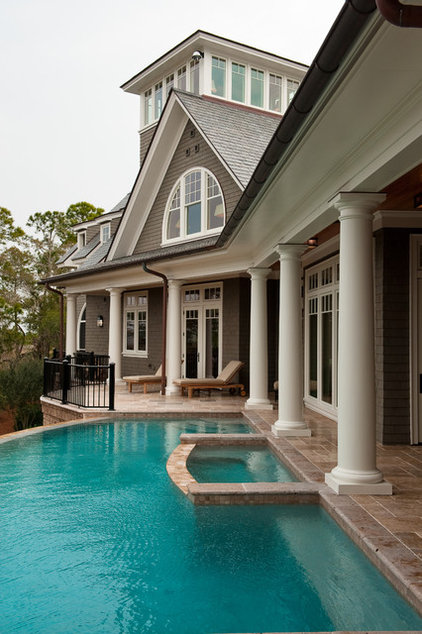 Traditional Pool by Island Architects