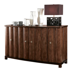 American Drew - American Drew Miramar Credenza in Auburn on Primavera - Credenza in Auburn on Prima Vera belongs to Miramar collection by American Drew