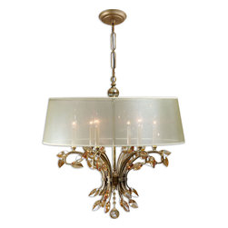 Uttermost - Uttermost 21246 Alenya 6-Light Shade Chandelier - Uttermost 21246 Alenya 6-Light Shade Chandelier