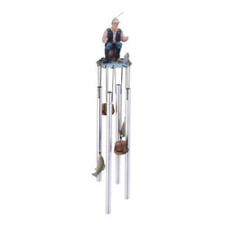 GSC - Wind Chime Round Top Fisherman Hanging Garden Decoration Windchime - This gorgeous Wind Chime Round Top Fisherman Hanging Garden Decoration Windchime has the finest details and highest quality you will find anywhere! Wind Chime Round Top Fisherman Hanging Garden Decoration Windchime is truly remarkable.