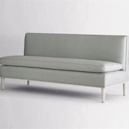 Palm Beach Banquette by Jan Showers - Elegant and understated, there's more to this settee than meets the eye. Use it in a living room or pull it up to the dining room table.