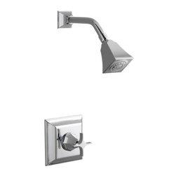 KOHLER - KOHLER K-T462-3S-CP Memoirs Rite-Temp Pressure-Balancing Shower Faucet Trim - KOHLER K-T462-3S-CP Memoirs Stately Rite-Temp Pressure-Balancing Shower Faucet Trim with Cross Handle in Vibrant Chrome