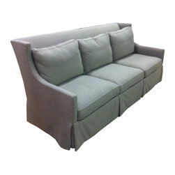 Lee Industries - Beautiful Lee Sofa - This is a gorgeous linen sofa by Lee Industries, hardwood construction, hand tied with down wrapped cushions.  You will not be disappointed by its quality.  Lee Industries is made in the USA and a leader in green design.
