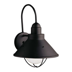 Kichler Lighting - Kichler Lighting 9023BK Seaside Lodge/Country/Rustic Outdoor Wall Light - XLarge - Kichler Lighting 9023BK Seaside Lodge/Country/Rustic Outdoor Wall Light - XLarge In Black (Painted)