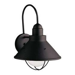 Kichler Lighting - Kichler Lighting 9023BK Seaside Lodge/Country/Rustic Outdoor Wall Light - XLarge - Kichler Lighting 9023BK Seaside Lodge/Country/Rustic Outdoor Wall Light - XLarge In Black (Painted)