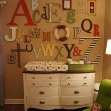 alphabet on wall