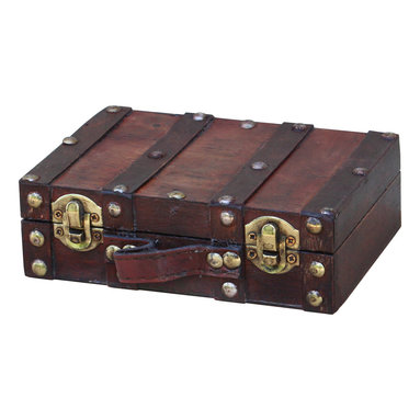 """Quickway Imports - Antique Style Small Mini Suitcase - Size: 6.2"""" x 4.3"""" x 1.9"""""""
