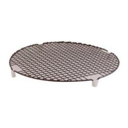 Nordic Ware - Nordic Ware Kitchenware Round 12 in. Cooling Rack Multicolor - 43842M - Shop for Cooling Racks from Hayneedle.com! The Nordic Ware 43842 Kitchenware Round 12 in. Cooling Rack is the perfect way to cool cakes. Its generous size holds cakes and more until they are cool and ready for frosting or storing. The rack features a metal construction with nonskid feet and the nonstick surface prevents hot baked foods from sticking to it. Dimensions: 12 diam. inches.About Nordic Ware.Founded in 1946 Nordic Ware is a family-owned American manufacturer of kitchenware products. From its home office in Minneapolis Minn. Nordic Ware markets an extensive line of quality cookware bakeware microwave and barbecue products. An innovative manufacturer and marketer Nordic Ware is best known for its Bundt Pan. Today there are nearly 60 million Bundt pans in kitchens across America.The Nordic Ware name is associated with the quality dependability and value recognized by millions of homemakers. The company's extensive finishing technology and history of quality innovation and consistency in this highly technical and specialized area makes it a true leader in the industrial coatings industry.Since founding Nordic Ware in 1946 the company has prided itself on providing long-lasting quality products that will be handed down through generations. Its business is firmly rooted in the trust dedication and talent of its employees a commitment to using quality materials and construction a desire to provide excellence in service to customers and never-ending research of consumer needs.