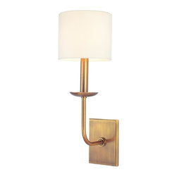 Hudson Valley - 1711-AGB Kings Point Wall Sconce, Aged Brass - Transitional Wall Sconce in Aged Brass from the Kings Point Collection by Hudson Valley.