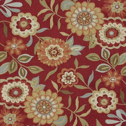 """Loloi - Country & Floral Francesca 7'6""""x9'6"""" Rectangle Red Area Rug - The Francesca area rug Collection offers an affordable assortment of Country & Floral stylings. Francesca features a blend of natural Red color. Handmade of 100% Polyester the Francesca Collection is an intriguing compliment to any decor."""
