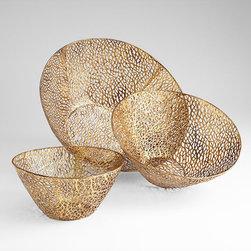 Cyan Design - Sydne Bowls - Sydne bowls - antique gold