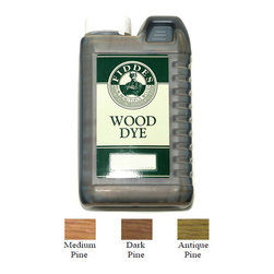 Fiddes Pine Water Based Wood Stain Dye, Antique Pine, 1 Liter - Recommended for use on new or old pine furniture for aged/antique look